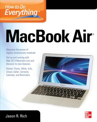 How to Do Everything Macbook Air By Jason, Rich